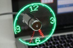 Fan LED Clock